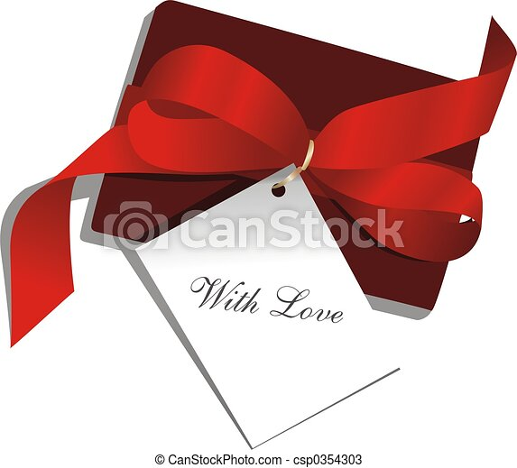 Present, red ribbon - csp0354303