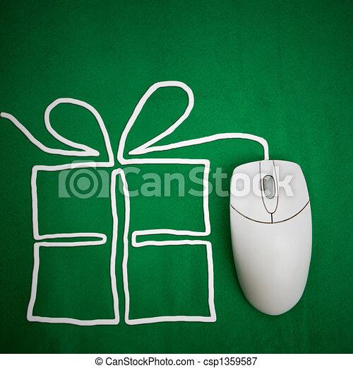 Present Shopping Online - csp1359587