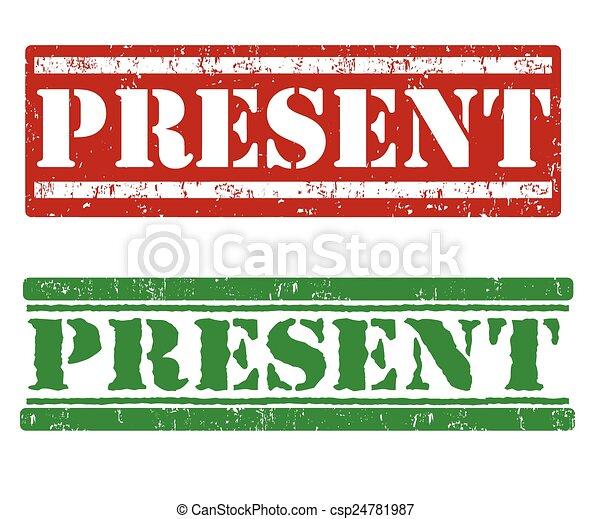 Present stamps - csp24781987