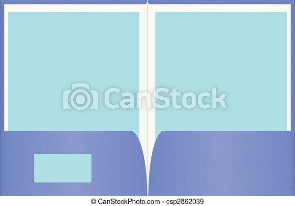 Una carpeta de presentación - csp2862039