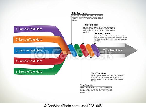 presentatie, informatiestroomschema - csp10081065