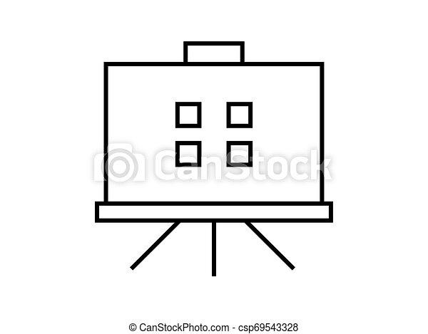 Presentation board symbol illustration vector on white background - csp69543328