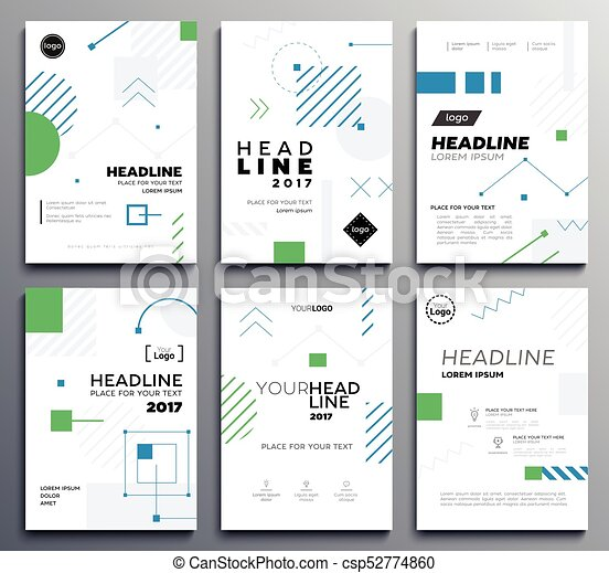 presentation booklet cover vector template a4 pages on abstract