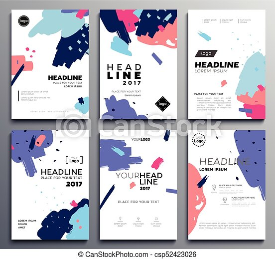 Presentation booklet cover - vector template a4 pages on abstract ...