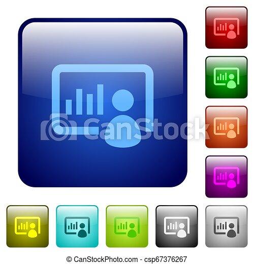 Presentation color square buttons - csp67376267