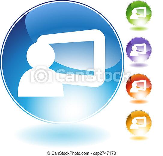 Presentation Crystal Icon - csp2747170
