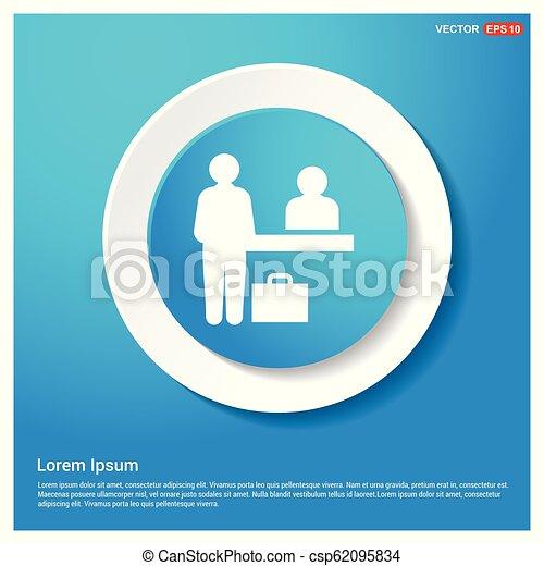 Presentation Icon Abstract Blue Web Sticker Button - csp62095834
