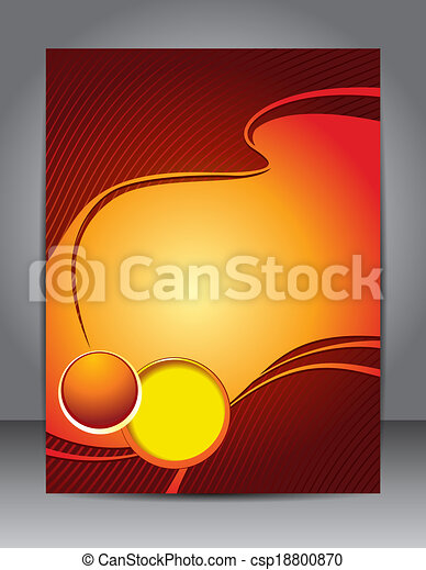 Presentation of business poster Stylish blue presentation of