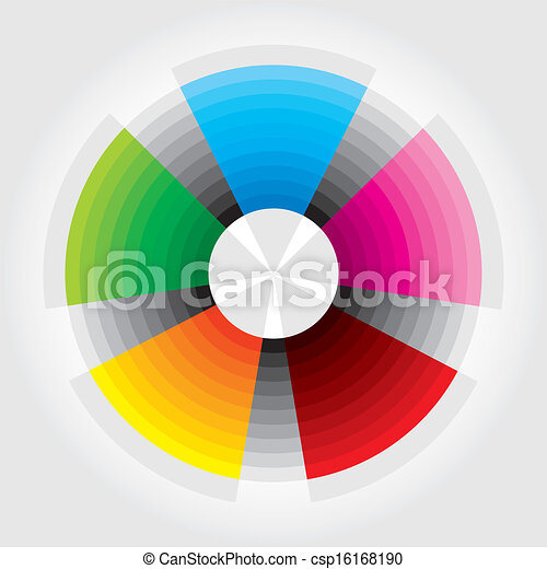 color wheel presentation template with color circle