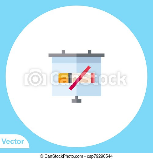 Presentation vector icon sign symbol - csp79290544