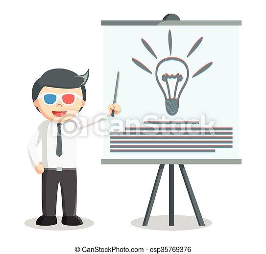 presentazione, idea, uomo affari - csp35769376