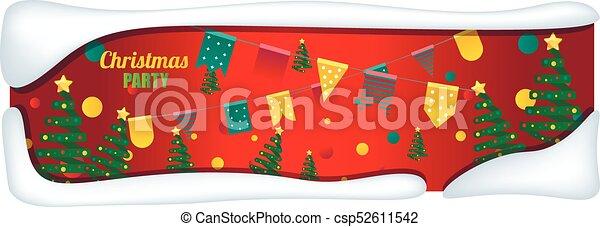presente, árvores., caixas, fundo, feriado, natal - csp52611542