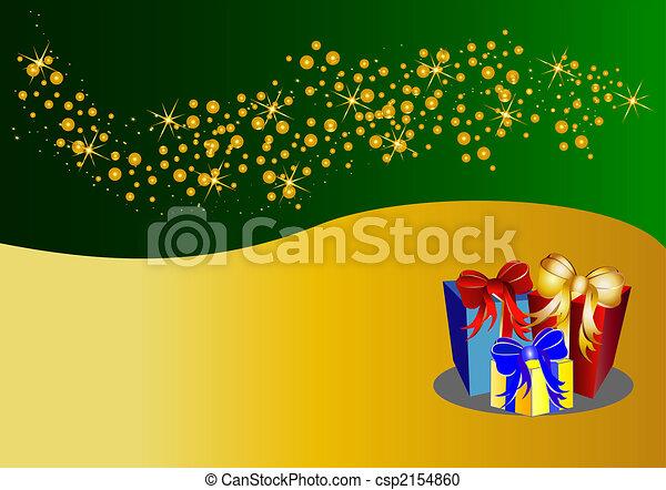 Fondo de Navidad bicolor con estrellas y presentes - csp2154860