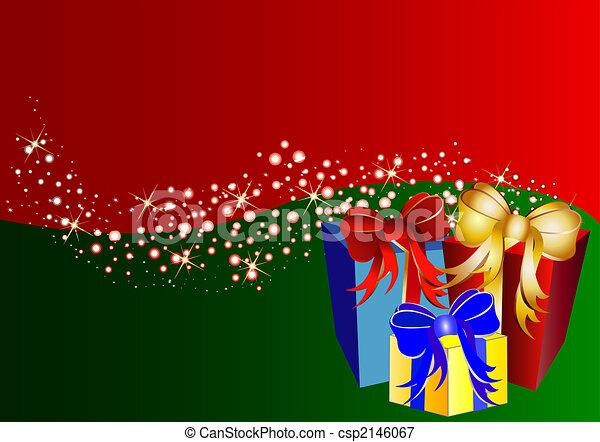 Un fondo de Navidad de color con estrellas y regalos - csp2146067
