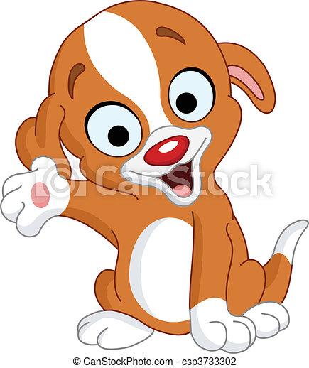presenter puppy cute puppy presenting vector illustration search rh canstockphoto com circus presenter clipart
