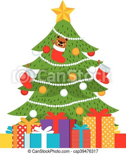 presentes rbol navidad vector - Dibujo Arbol De Navidad