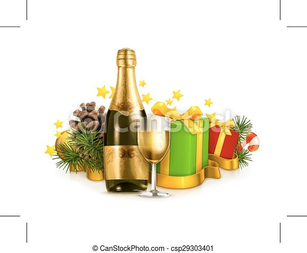 presentes, champanhe - csp29303401