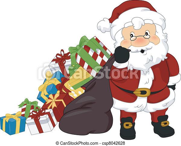 Los regalos de Navidad de Santa Claus - csp8042628