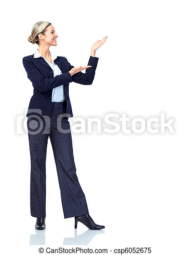 presenting business woman - csp6052675