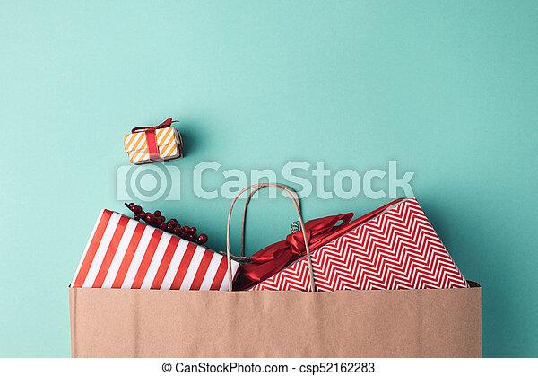 presents in paper bag - csp52162283