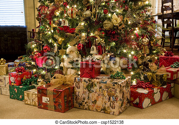 Christmas Presents Under Tree.Presents Under Tree