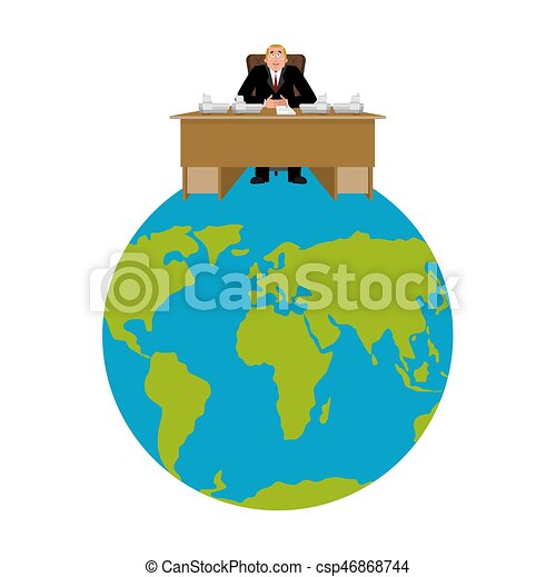 President of world big boss planet earth master is eps vector president of world big boss planet earth master is businessman director in office gumiabroncs Gallery