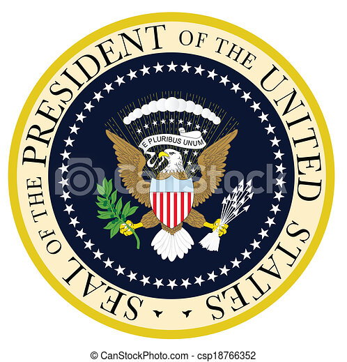 president seal a depiction of the seal of the president of the rh canstockphoto com Make Your Own Presidential Seal Printable Presidential Seal