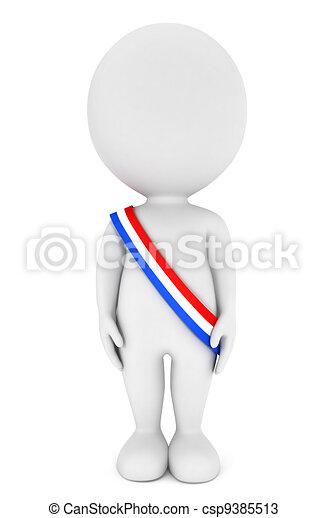 3d presidentes de blancos - csp9385513
