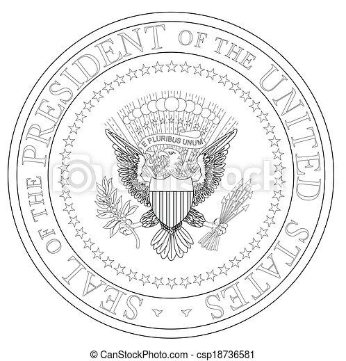 presidente, selo - csp18736581