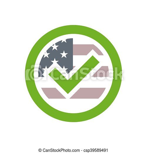 Presidential Election Usa Sign Green Blue And Red Design On