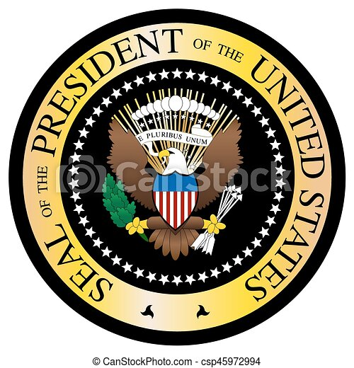 presidential seal black and gold a presidential seal design rh canstockphoto com presidential seal vector black and white HHS Logo Vector
