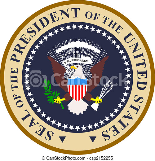 Presidential seal in color - csp2152255