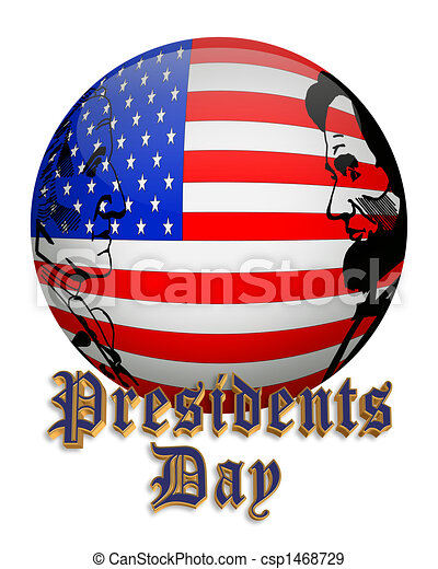 Presidents Day American Flag Orb - csp1468729