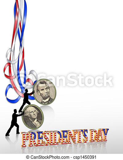 Presidents Day Border graphic - csp1450391