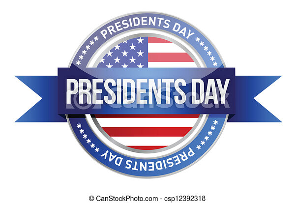 presidents day us seal and banner illustration design vector clip rh canstockphoto com presidents day 2017 free clip art Martin Luther King Day Clip Art Free
