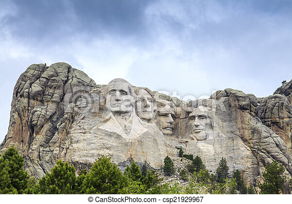 Presidents of Mount Rushmore National Monument. - csp21929967