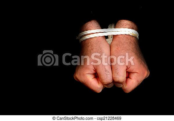 Prisionero de guerra Concept Photo - csp21228469