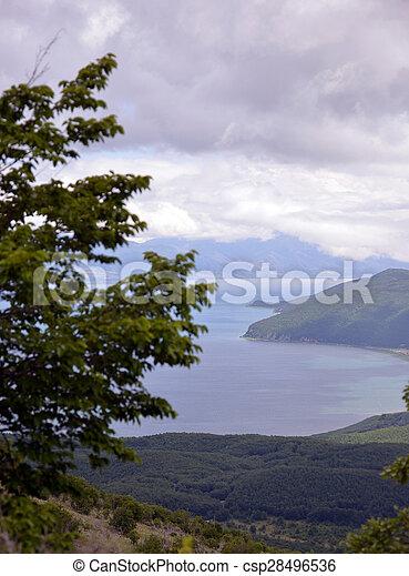 prespa, lago, macedonia - csp28496536
