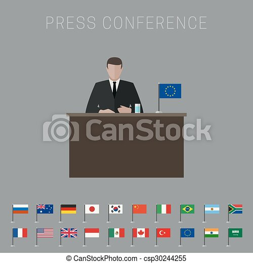 Press conference banner - csp30244255