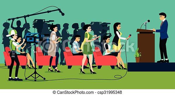 Press conference - csp31995348