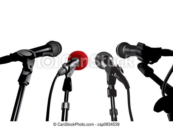 Press Conference (vector) - csp0834539