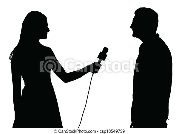 Press Interview Conducted by Woman Interviewer - csp18549739