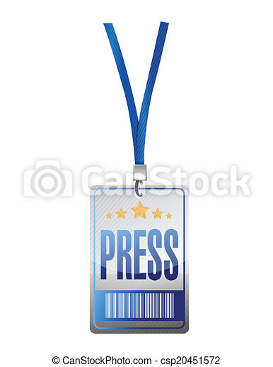 press pass tag illustration design - csp20451572