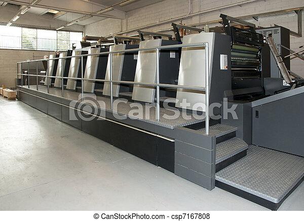 Press printing - Offset machine - csp7167808
