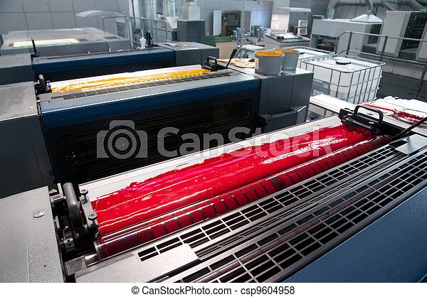 Press printing - Offset machine - csp9604958