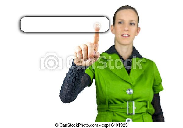 Pressing a button on virtual screen - csp16401325