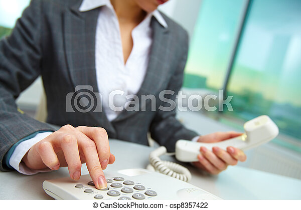 Pressing telephone buttons - csp8357422