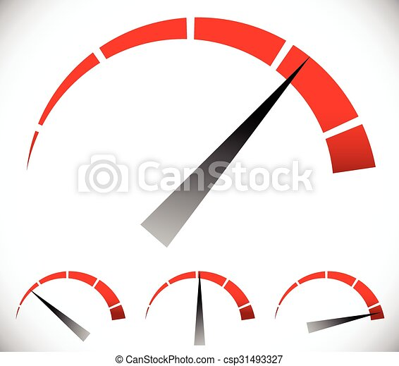 Pressure gauge, generic dial template. vector graphic - csp31493327