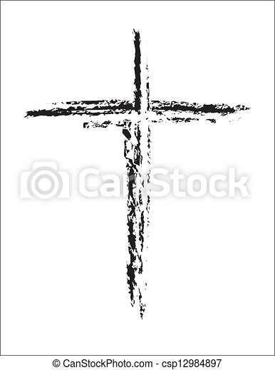 pretas, branca, grunge, crucifixos - csp12984897