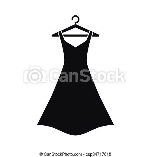 pretas, cabide, vestido - csp34717818